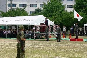 陸上自衛隊大久保駐屯地で挨拶
