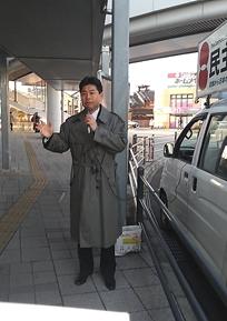 近鉄祝園駅にて街頭演説