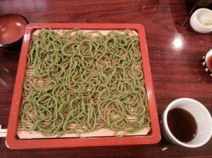茶そばに宇治茶使用 in 釧路