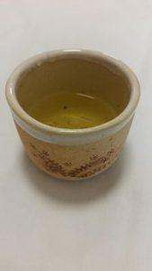 手作り湯呑みで、地元の新茶をいただきました