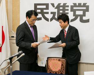 201604岡田民進党代表に報告