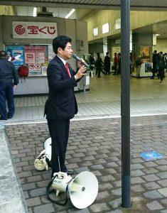 20161114近鉄大久保駅にて