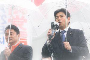 20170327結党1周年街頭演説(有楽町マリオン前)